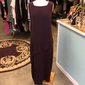 NWT OH MY GAUZE! Burgundy Maxi Dress Size 2 /Large